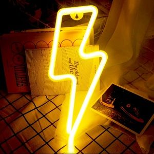 Neon Yellow Lightning LED Room/Wall/Party Decor